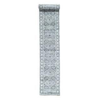1800getarug Mamluk Design Undyed Natural Wool Handmade XL Runner Rug (2'9x18'0)