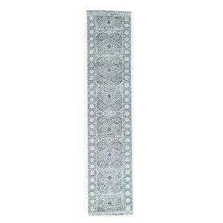 1800getarug Mamluk Design Undyed Natural Wool Handmade Runner Rug (2'8x12'1)