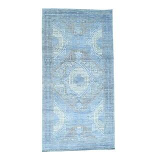 1800getarug Handmade Pre-Historic Mamluk Design Gallery Size Oriental Rug (9'10x19'5)