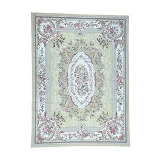 1800getarug Hand-Stitched Needlepoint With Aubusson Design Oriental Rug (8'10x12'0)