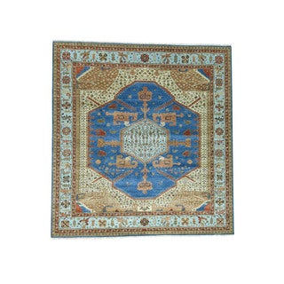1800getarug Antiqued Bakshaish Natural Dyes 300 Kpsi Handmade Square Rug (12'0x12'9)