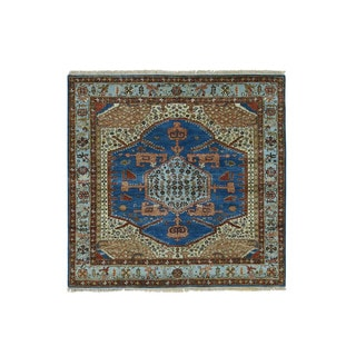 1800getarug Hand-Knotted Antiqued Bakshaish Natural Dyes 300 Kpsi Square Rug (8'0x8'1)