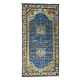 1800getarug Antiqued Bakshaish Natural Dyes 300 Kpsi Gallery Size Rug (6'1x13'7)