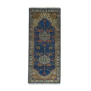 1800getarug Natural Dyes 300 Kpsi Antiqued Bakshaish Oriental Runner Rug (2'6x5'9)
