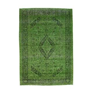 1800getarug Handmade Overdyed Persian Tabriz Worn Pure Wool Oriental Rug (6'8x9'7)