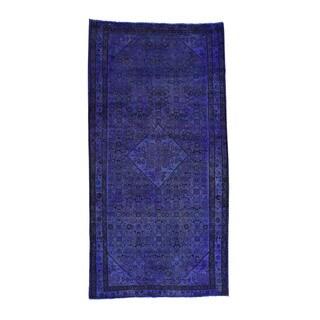 1800getarug Handmade Persian Hussainabad Overdyed Worn Wide Runner Rug (5'0x9'10)