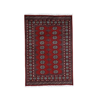 Handmade Pure Wool Elephant Feet Design Bokara Oriental Rug (4'3x6'3)