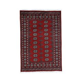 1800getarug Hand-Knotted Pure Wool Elephant Feet Design Bokara Oriental Rug (4'2x6'0)
