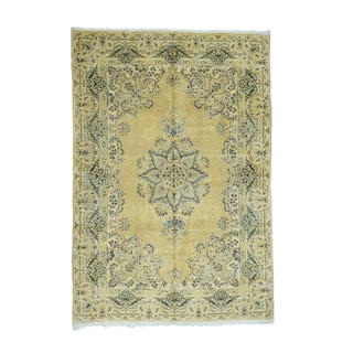 1800getarug Hand-Knotted Antique Persian Kerman Exc Cond Oriental Rug (6'0x8'8)