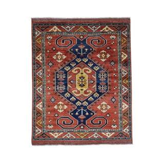 1800getarug Hand-Knotted Turkoman Ersari 100 Percent Wool Oriental Rug (5'9x7'3)