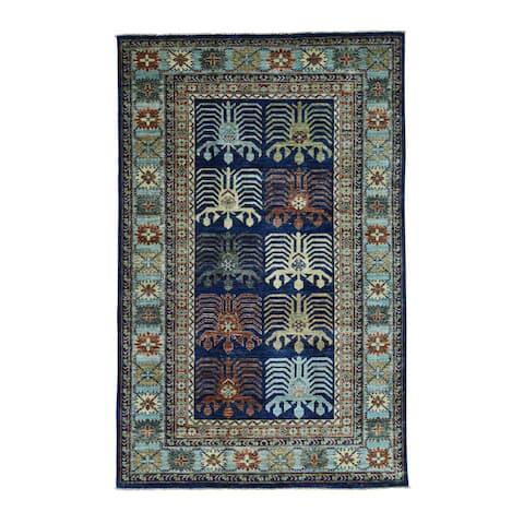 Shahbanu Rugs Hand-Knotted Turkoman Ersari 100 Percent Wool Oriental Carpet (5'2x8'2)