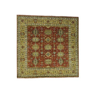 1800getarug Pure Wool Hand-Knotted Karajeh Square Oriental Rug (10'1x10'1)