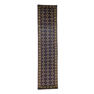 1800getarug Afghan Khamyab Vegetable Dyes Pure Wool Hand-Knotted Runner Rug (3'1x13'0)