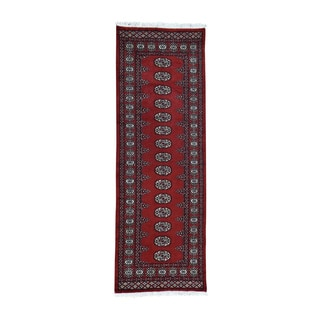 1800getarug Handmade Red Bokara Elephant Feet Design Pure Wool Runner Rug (2'8x7'8)