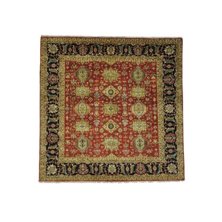 1800getarug Antiqued Heriz Recreation Pure Wool Hand-Knotted Square Rug (4'0x4'1)