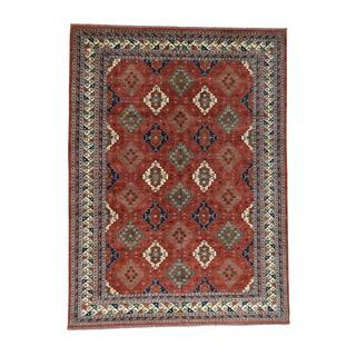 1800getarug Hand-Knotted Pure Wool Ersari Turkoman Oriental Rug (10'2x13'9)