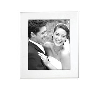Reed & Barton Silvertone Metal and Glass 8-inch x 10-inch Wide Border Frame