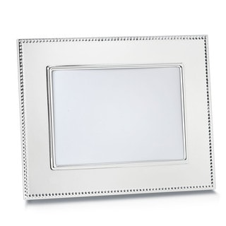Reed & Barton Lyndon Silver Metal and Glass 5x7-inch Frame