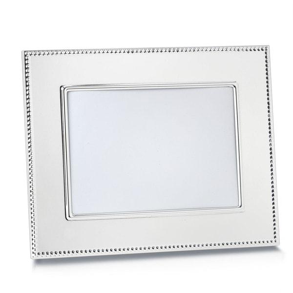 Reed & Barton Lyndon Silver Metal and Glass 5x7-inch Frame