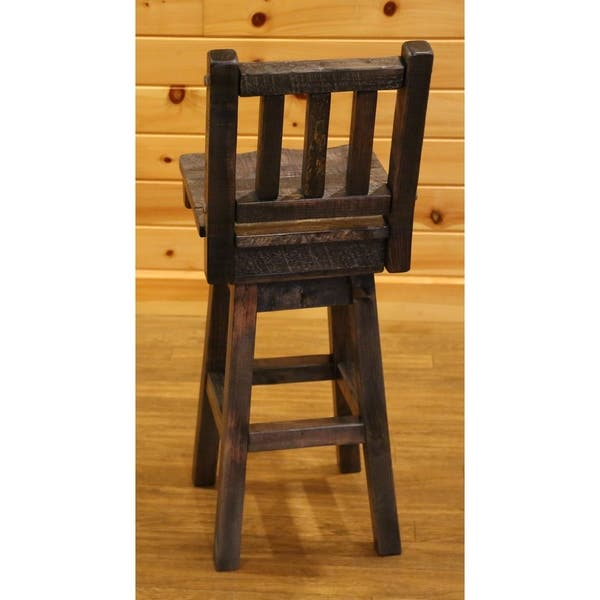 Super Shop Barnwood Style Timber Peg Swivel Bar Stool With Back Ibusinesslaw Wood Chair Design Ideas Ibusinesslaworg