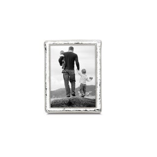 Reed & Barton Bennett Silver-plated Metal and Glass 5-inch x 7-inch Frame