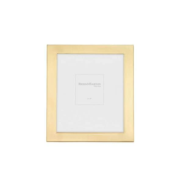 Shop Reed & Barton Gold Metal 8x10-inch Frame - Free Shipping Today ...