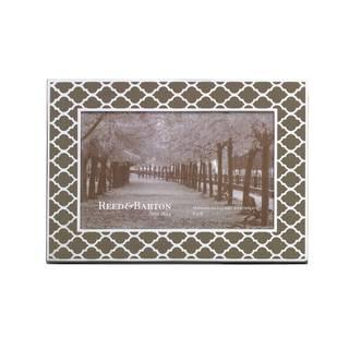 Reed Barton Kasbah Mocha Metal, Glass 4x6 Frame