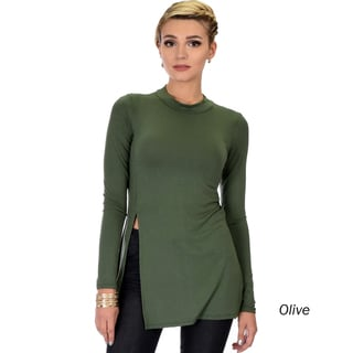 Lyss Loo Women's Long-Sleeve Tunic Top