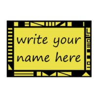 Legends of The Hidden Temple Name Tag