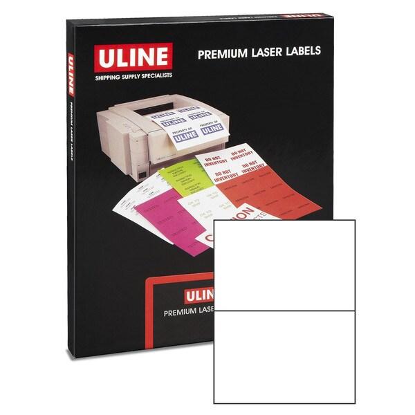 500 Laser Labels (250 Sheets) White 8.5 x 5.5