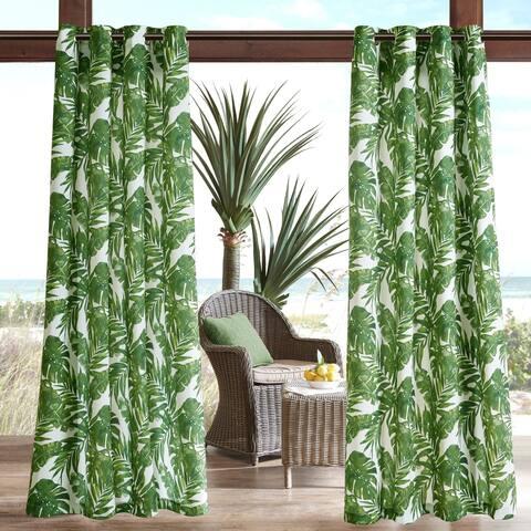Madison Park Navio Printed Palm 3M Scotchgard Outdoor Curtain Panel