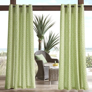 Madison Park Morro Printed Fret 3M Scotchgard Water Repellent and Stain Resistant Outdoor Grommet Top Curtain Panel (More options available)