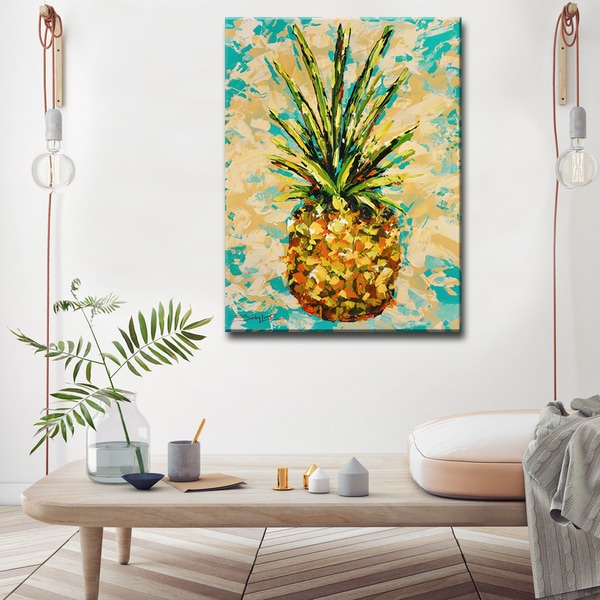 Sarah LaPierre 'Fiesta Pineapple' Ready2HangArt Canvas