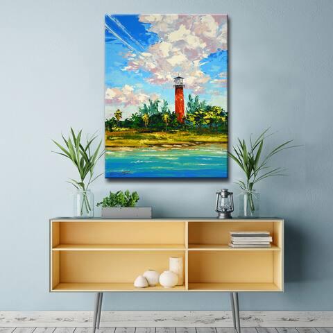 Porch & Den Jupiter Light' Coastal Canvas Art