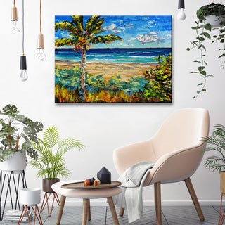 Porch & Den Sugar Beach' Coastal Canvas Wall Art