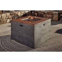 Signature Design by Ashley Hatchlands Brown Square Fire Pit Table