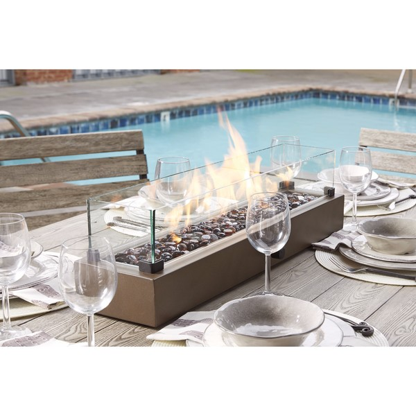 Superieur Signature Design By Ashley Hatchlands Brown Table Top Fire Bowl