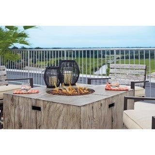 Signature Design by Ashley Peachstone Brown Square Fire Pit Table