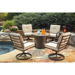 Signature Design by Ashley Predmore Brown Round Fire Pit Table