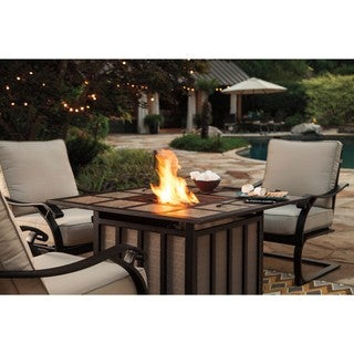 Signature Design by Ashley Wandon Brown Square Fire Pit Table
