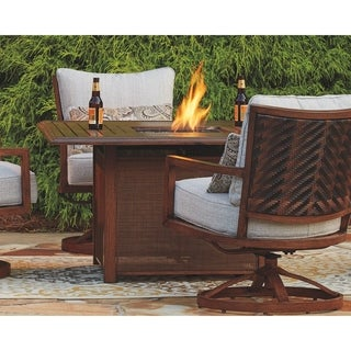 Signature Design by Ashley Zoranne Brown Square Fire Pit Table