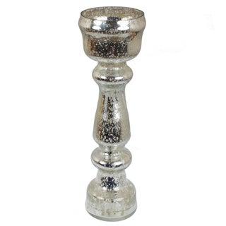 GlideRite 12.5-inch Mercury Glass Tall Silver Flower Vase
