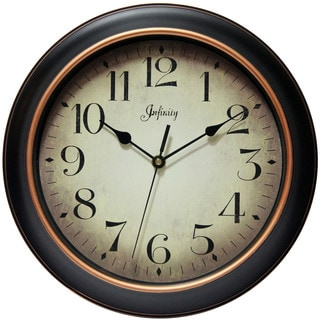 Infinity Instruments 12-inch Classic Kitchen Round Indoor Wall Clock