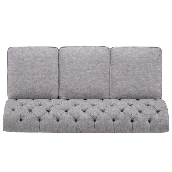 Knightsbridge Grey Linen Sectional Sofa Extension by iNSPIRE Q Artisan