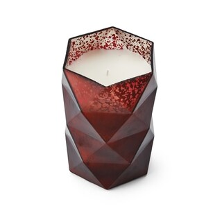 Mikasa Merlot 6-inch Filled Glass LED Candle