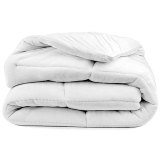 Pillow-Top Premium Mattress Pad - Overfilled Super Soft Velvet Reversible Topper - With Deep Fitted Skirt - White