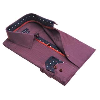 Men's European Modern-fit Jacquarded Dress Shirt