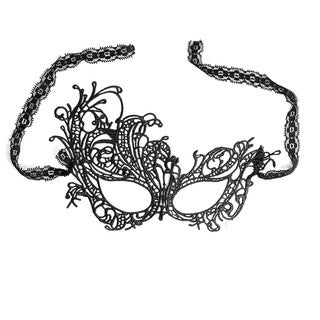 Women's Black Lace Masquerade Party Mask