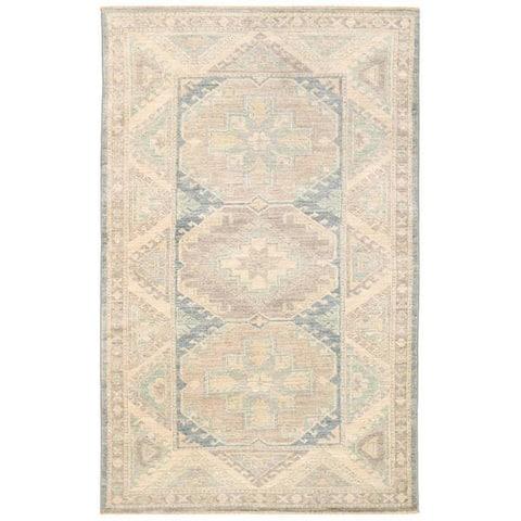 Handmade One-of-a-Kind Vegetable Dye Khotan Wool Rug (Afghanistan) - 3'1 x 4'11