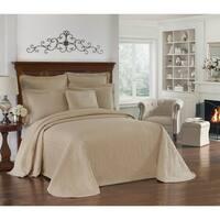 Historic Charleston Charles Matelasse King Size Bedspread in Grey (As Is Item)